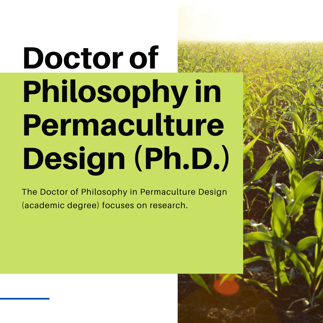 Academic Degree in Permaculture Design