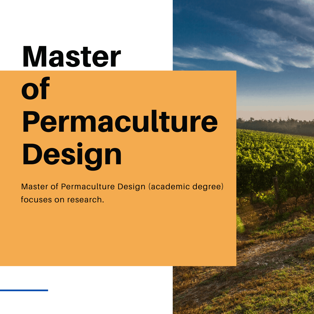 master of permaculture design